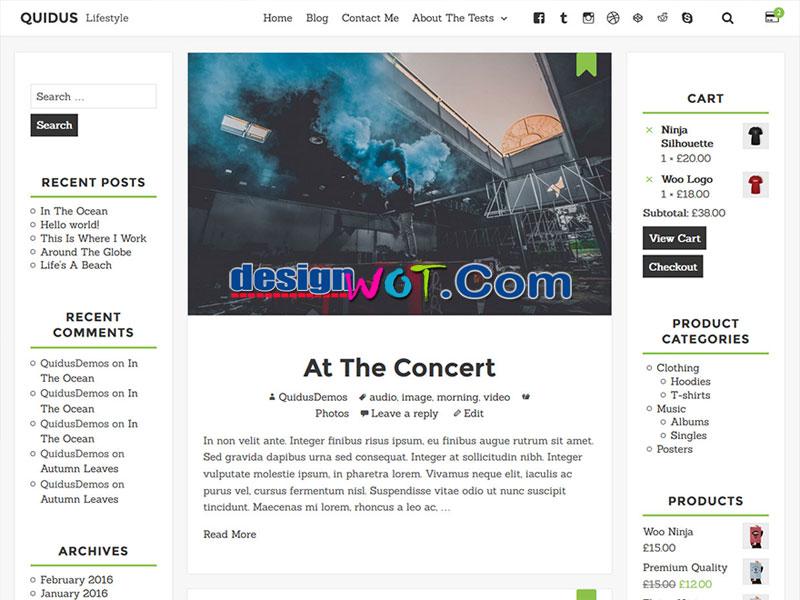 Quidus Responsive Multi purpose WordPress Theme