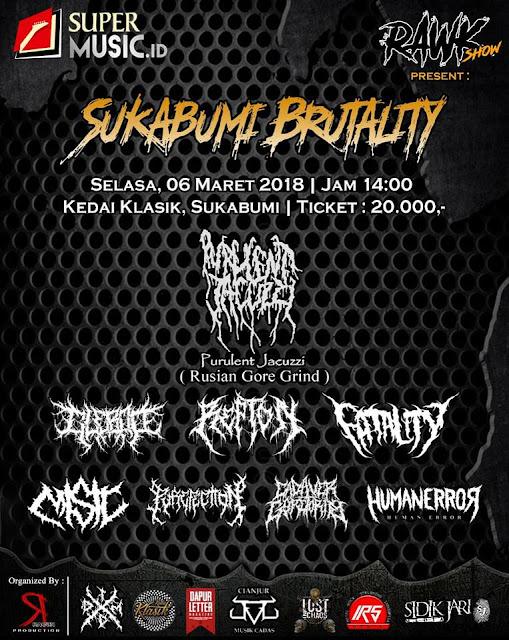 SUKABUMI BRUTALITY : Purulent Jacuzzi, Indonesian Tour 2018