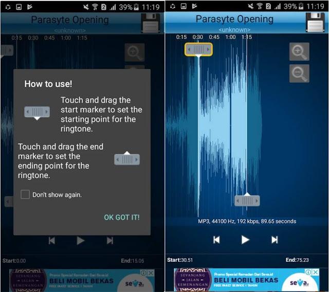 Apakah Anda terdapat lagu favorit yang kerap Anda dengarkan disiang malam dan dimanapun  Tutorial Gampang Memotong Lagu MP3 di Android Terbaru
