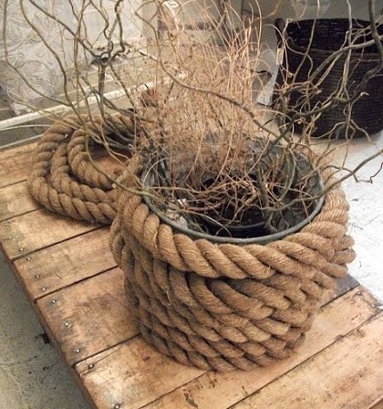 rope wrap around pots