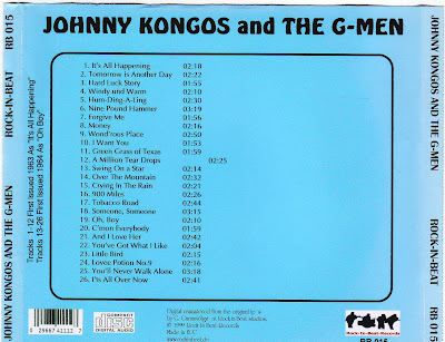 Johnny Kongos & The G-Men - It's All happening & Oh Boy ! ( South Africa)