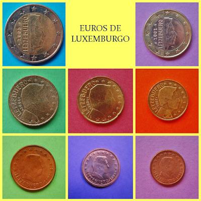 Monedas Euro Luxemburgo