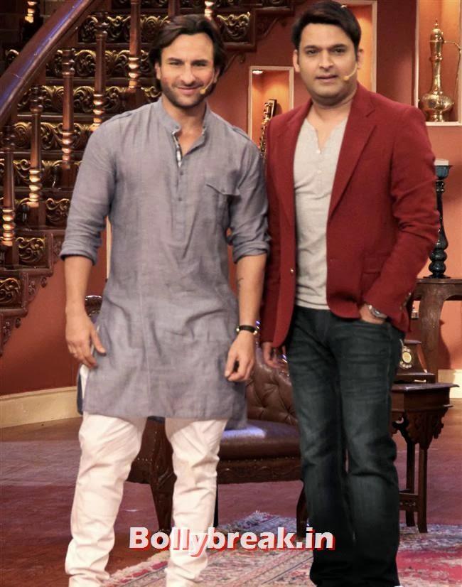 Saif Ali Khan and Kapil Sharma, Saif ali khan on Comedy nights with Kapil