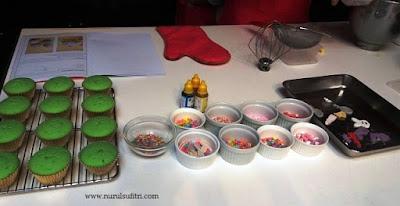 bahan membuat cupcakes masak bersama barbie chef stella lowis nurul sufitri blogger