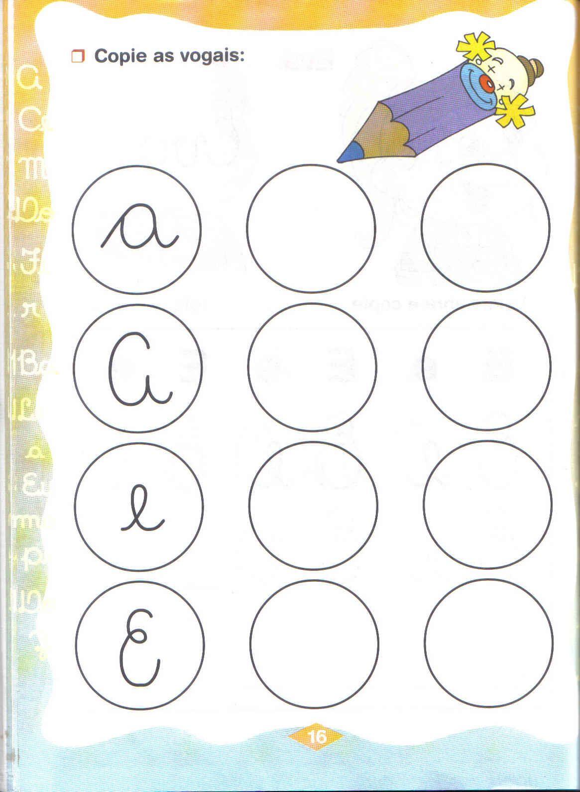 atividades com vogais para alfabetização