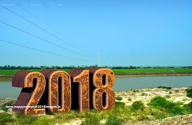 happy new year 2018 3d wallpaper