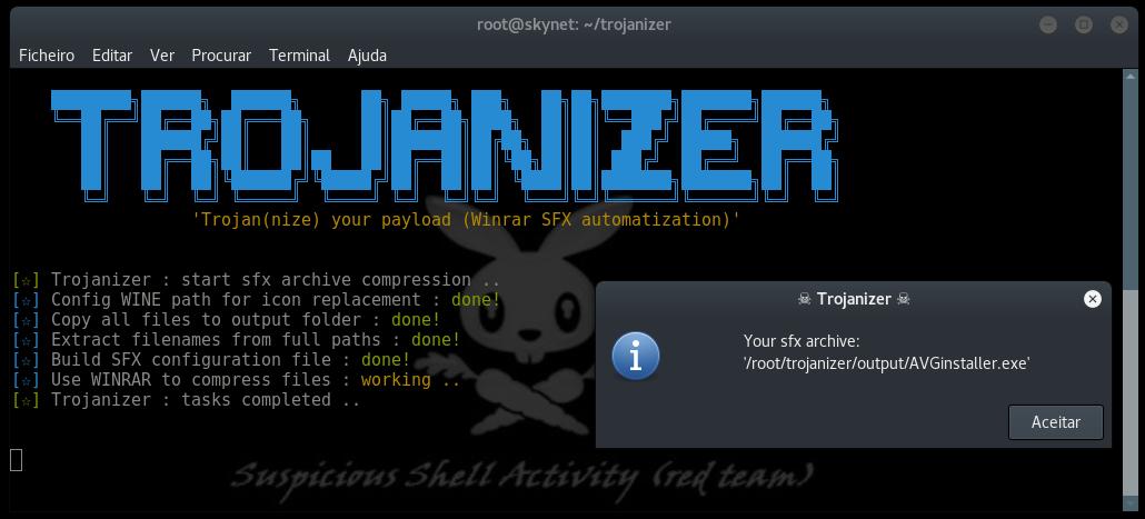 Trojanizer - Trojanize Your Payload (WinRAR [SFX] Automatization)