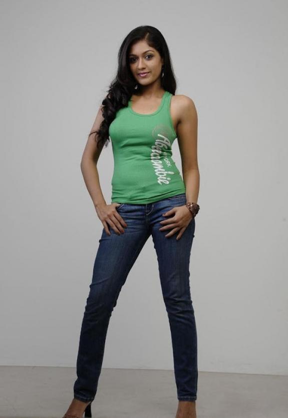 Actress Meghna Raj Hot Photos On Jeans