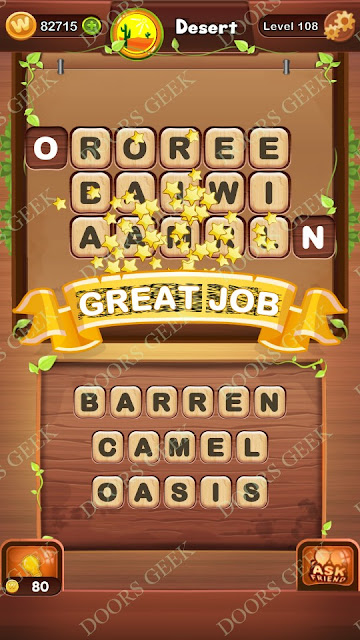 Word Bright Level 108 Answers, Cheats, Solutions, Walkthrough for android, iphone, ipad and ipod