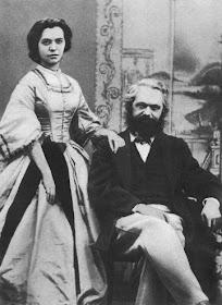 Karl Marx & his wife Jenny in 1866