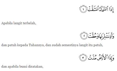Nama Surah Dalam Al-Qur'an Ke 81-90 Dan Kandungannya
