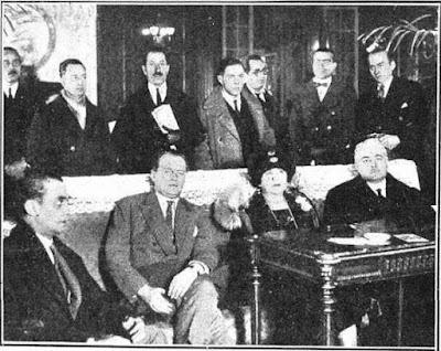 El Campeón del Mundo de Ajedrez Alexander Alekhine en Barcelona, enero de 1928