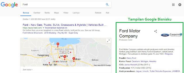 Ford Google Bisnisku