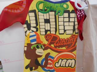 ジャム Tシャツ 黄色 赤 裏