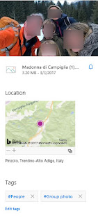 Example of Auto-Generated  Metadata - Location and  Image Tagging