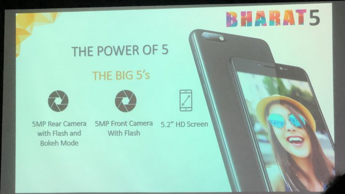 Micromax Bharat 5 smartphone: its price and specification