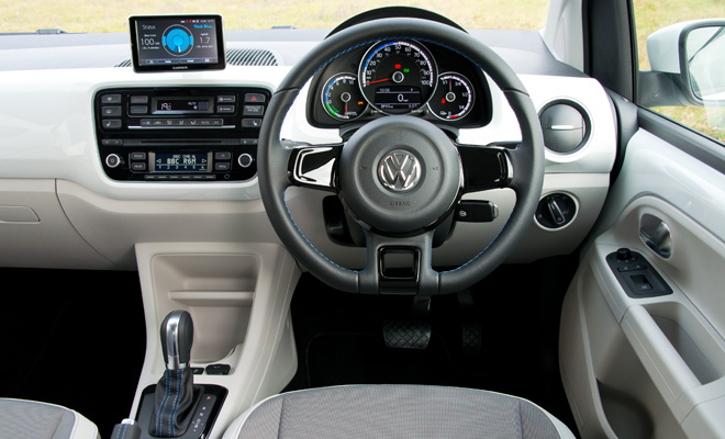 Volkswagen e-Up front interior