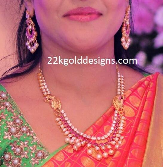Elegant Polki Ruby Layer Necklace