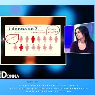 """Elena Tione ospite alla trasmissione TV """"Parole di Donna"""" condotta da Paola Donnini - puntata andata in onda l'8 dicembre 2018 in prima serata"""