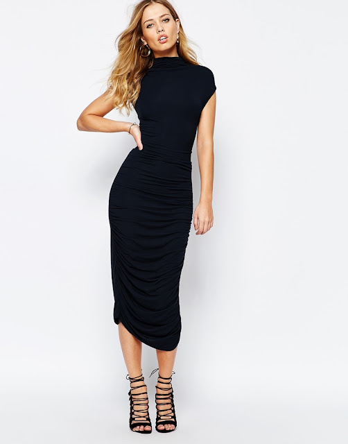 super trash black midi dress,