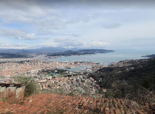 Veduta della Spezia dal sentiero AVG
