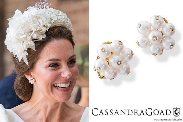 Kate Middleton wore Cassandra Goad Cavolfiore Pearl Earrings