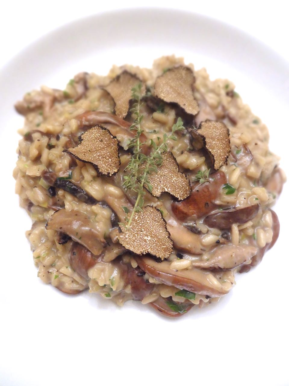 Scrumpdillyicious: Wild Mushroom Risotto with Shaved Black Truffles