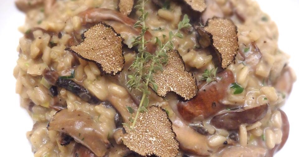 Risotto With Leeks, Shiitake Mushrooms, And Truffles Recipe ...
