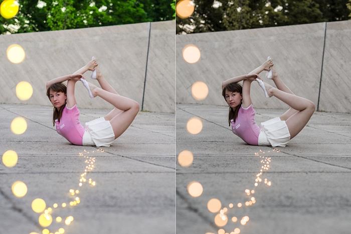 najładniejsze pozycje jogi, dwie wersje zdjęcia