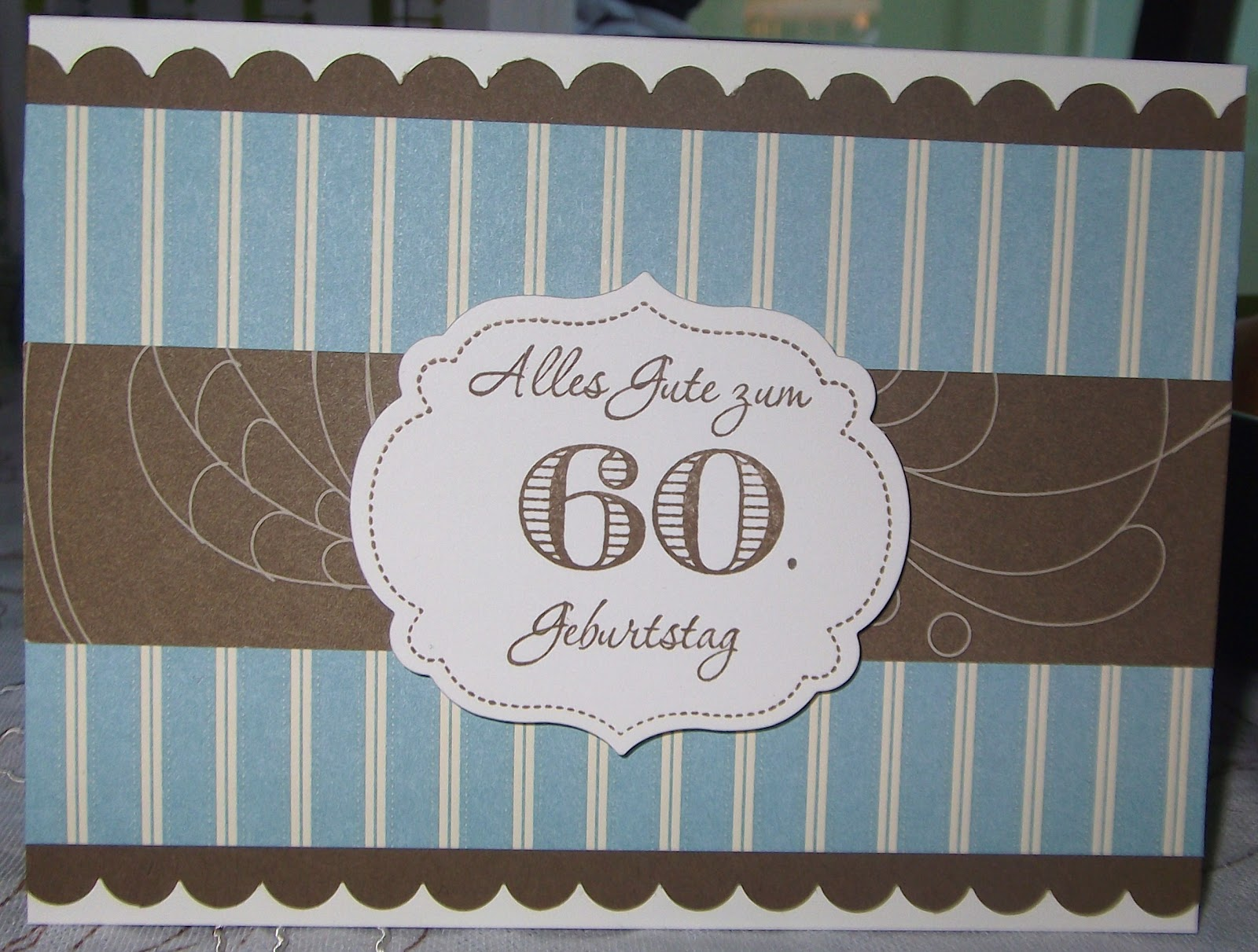 Wunderbar Basteln Karte Zum 60 Geburtstag