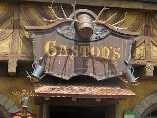Gaston's Tavern Disney World Fantasyland Sign