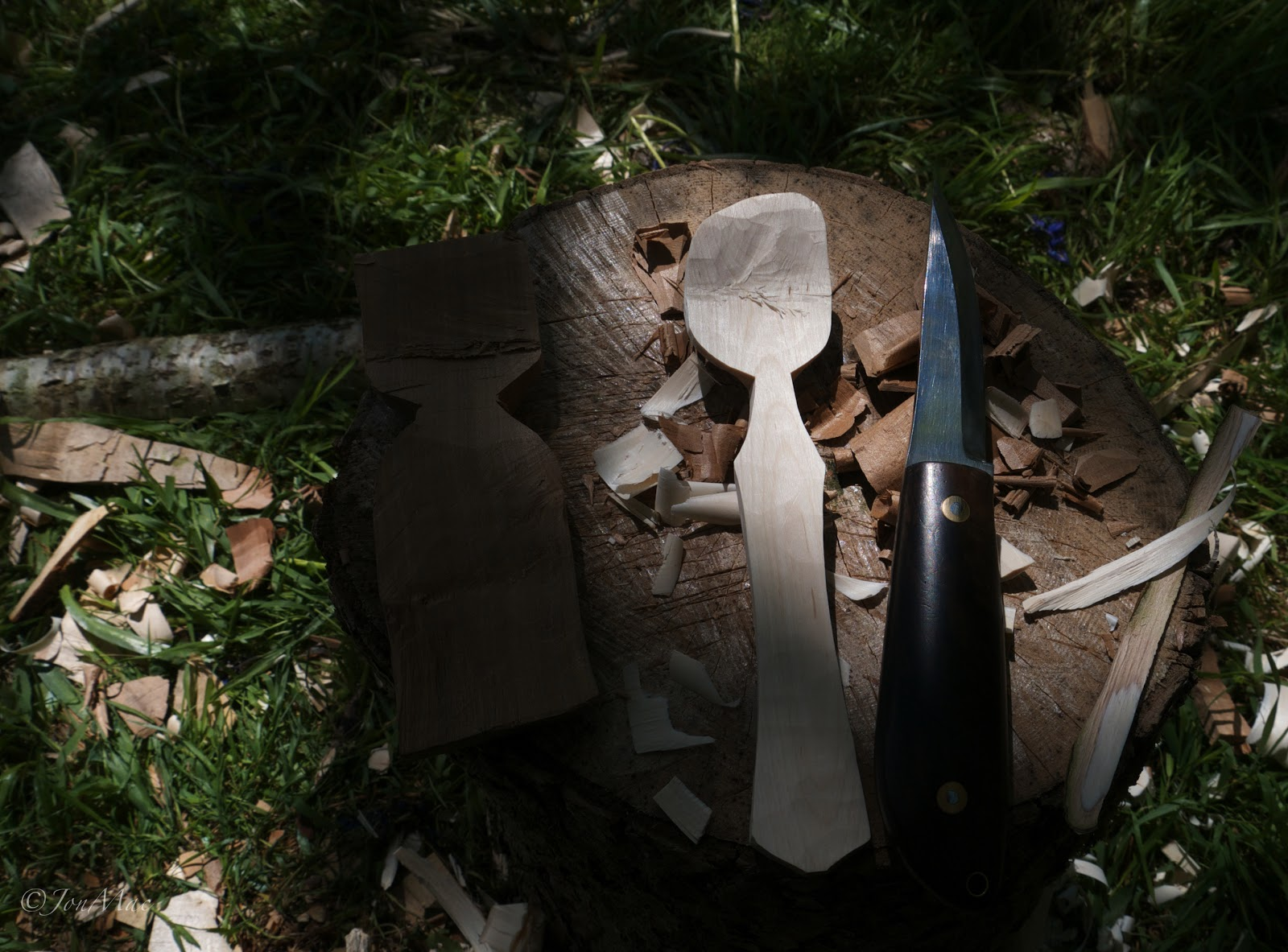 spoon blank+machris bushcraft knife
