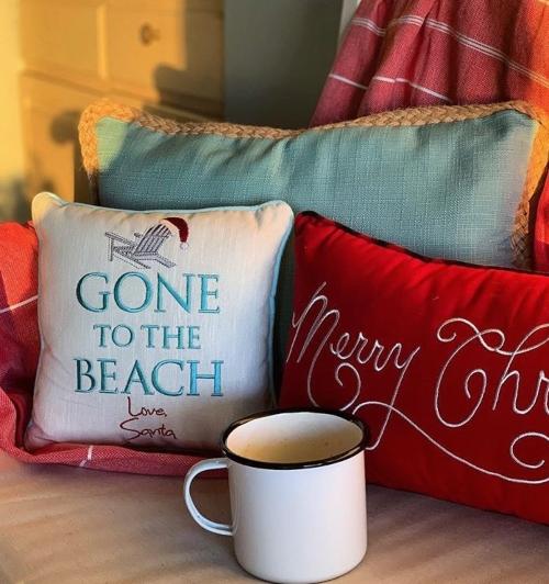 Santa Beach Pillow