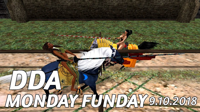 DDA MONDAY FUNDAY In Second Life (9.10.2018) • Second Life Jousting