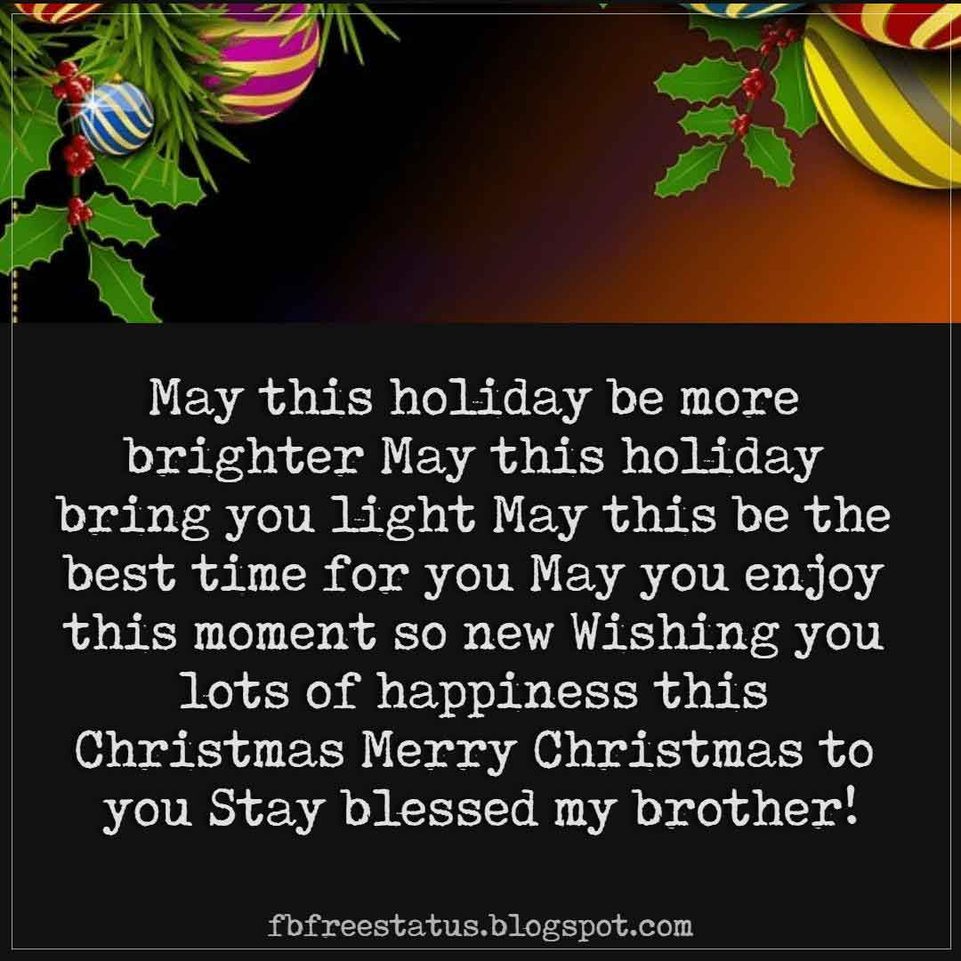 Merry Christmas Greetings Wishes For Brother