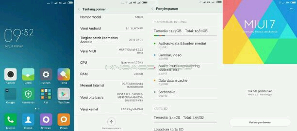 Screenshot MIUI 7 Lenovo A6000