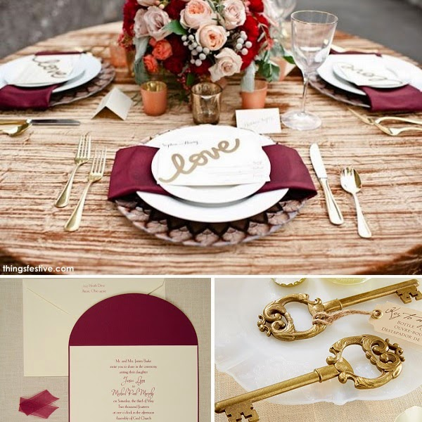 Burgundy And Gold Wedding Decorations: Fall Wedding Inspiration In Burgundy & Gold