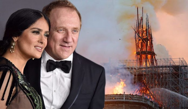 Tax Donation Deductions: Salma Hayek's husband and Gucci billionaire Francois-Henri Pinault offers €100 million to rebuild