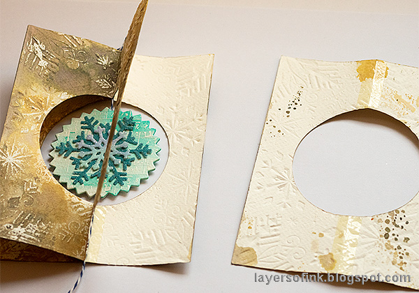 Layers of ink - Interactive Snowflake Spinner Tutorial by Anna-Karin Evaldsson.
