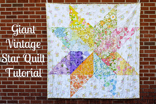 http://www.incolororder.com/2011/08/giant-vintage-star-quilt-tutorial.html
