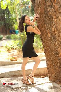 Actress Poojitha Pallavi Naidu Stills in Black Short Dress at Inkenti Nuvve Cheppu Movie Platinum Disc Function  0250.JPG