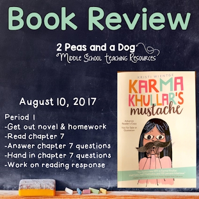 Karma Khullar's Mustache Book Review from the 2 Peas and a Dog blog.