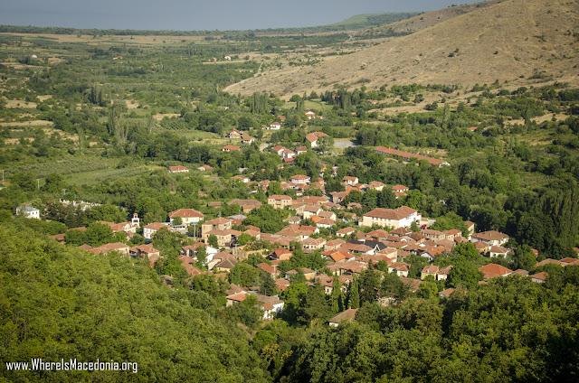 Ljubojno village, Resen Municipality, Macedonia - panorama