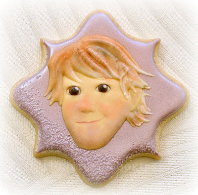 Christoff from Frozen decorated cookie, photo by Honeycat Cookies