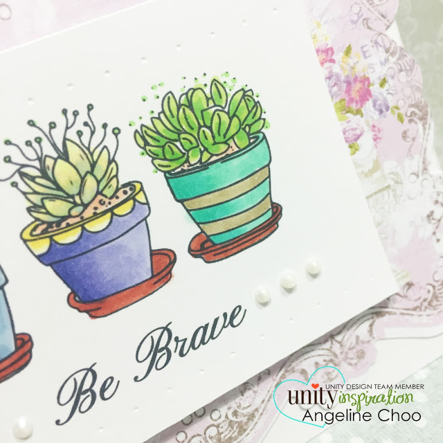ScrappyScrappy: Bravely Planted #scrappyscrappy #unitystampco #card #succulent #stamp #copic