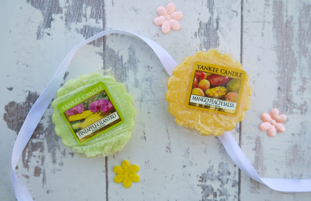 yankee candle pineapple cilantro and mango peach salsa wax tarts