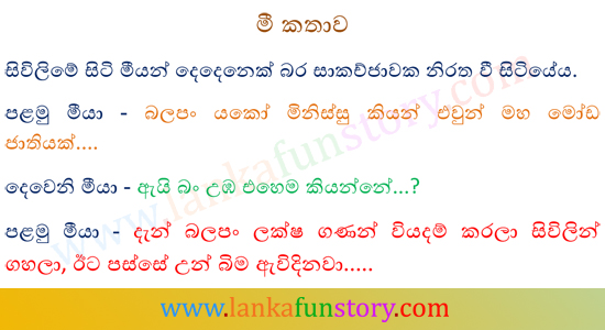 Sinhala Jokes-Rat Talk