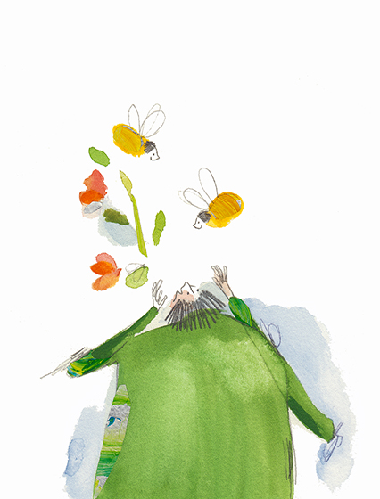 ´´spring´´ illustration by Vicky Alvarez .... ilustración primavera