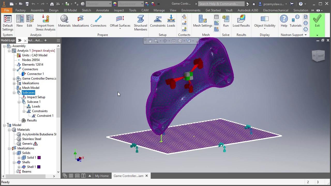 análisis de simulacion con autodesk nastran in-cad