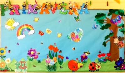 Ilustración de la primavera en mural